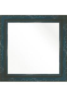Espelho Brilho Rococo Azul 26X26Cm