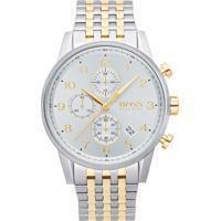 61a35fcf751 Relógio Hugo Boss Masculino Aço Prateado E Dourado - 1513499