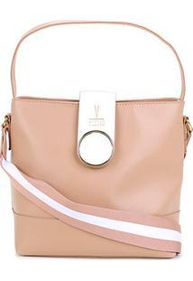 Bolsa Vizzano Handbag Lisa Feminina - Feminino-Nude