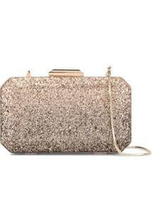 The Chic Initiative Clutch Diyala Com Glitter - Dourado