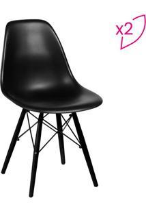 Jogo De Cadeiras Eames Dkr- Preto- 2Pã§S- Or Desior Design