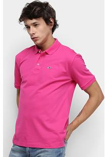 Camisa Polo Tommy Jeans Classic Solid Masculino - Masculino-Rosa