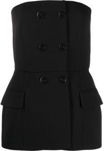 Givenchy Blusa Tomara Que Caia Com Abotoamento - Preto