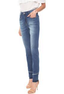 Calça Jeans Enna Slim Recortes Azul