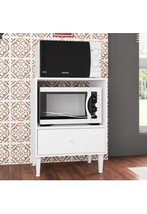 Armário De Cozinha Para Forno E Micro 1 Gaveta Montevidéu Branco - Art In Móveis