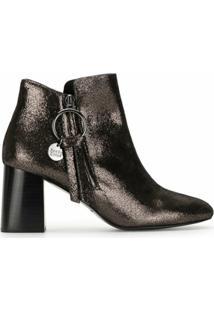 See By Chloé Ankle Boot Metálica - Dourado