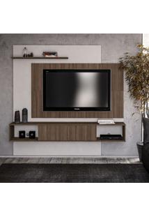 Painel Para Tv Até 60 Polegadas Jales Castanho E Branco