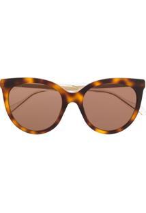 Gucci Eyewear Tortoiseshell Effect Sunglasses - Neutro