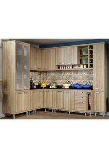 Cozinha Completa Multimóveis Com 11 Peças Sicília 5805 Argila/Argila