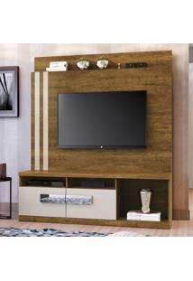 Estante Home Para Tv 2 Portas 2 Prateleira 1 Nicho Mavaular Canion/Off White