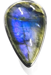 Anel Prata Mil De Prata Pedra Opala Prata - Kanui
