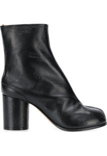 Maison Margiela Ankle Boot Com Detalhe De Abertura Frontal - Preto