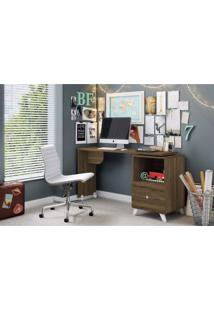 Escrivaninha Com Tampo Giratório 1 Gaveta Carinho Albatroz Móveis Cedro