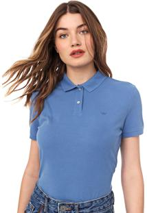 Camisa Polo Carmim Frisos Azul