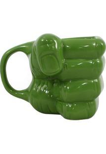 Caneca Mã£O Hulkâ®- Verde- 350Ml- Zona Criativazona Criativa