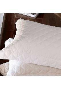 Colcha Trapuntada Ônix Com Porta Travesseiro Branca - Scavone