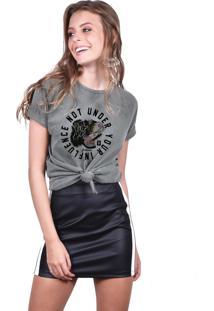 Camiseta Joss Estonada Verde Militar - Not Under Your