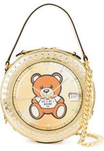 Moschino Round Teddy Bear Bag - Dourado