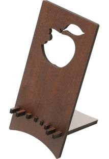 Porta Celular Maçã Quartzo 8,5X9X18Cm - Unissex