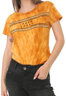 Camiseta Hang Loose Splash Amarela - Kanui
