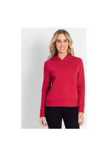 Blusão Feminino Com Capuz Rovitex Vermelho