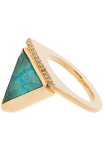 Katerina Makriyianni Anel Green Triangle De Ouro 24K - Metálico