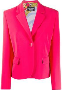 Boutique Moschino Blazer Com Abotoamento Simples - Rosa