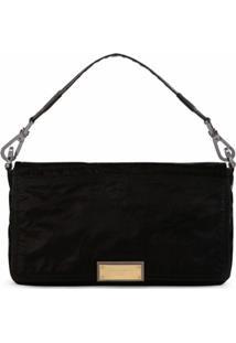 Dolce & Gabbana Bolsa Tiracolo Com Placa De Logo - Preto