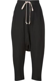 Rick Owens Drawstring Trousers - Preto