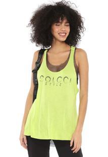 Regata Colcci Fitness Neon Dupla Face Verde/Preta