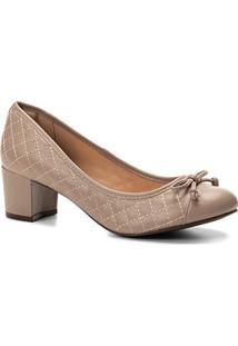 Scarpin Shoestock Salto Médio Matelassê - Feminino-Cinza