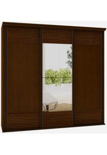 Armario Los Angeles 3 Portas 2,40M C/Espelho Caramelo -24570 - Sun House