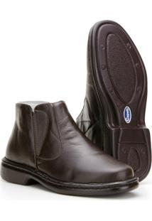 Bota Capelli Boots Anti Stress Em Couro Com Fechamento Em Elástico Masculina - Masculino