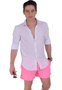 Camisa Social Horus Slim Branca 100236 Branco