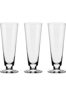 Jogo Com 3 Taças De Cristal Alumina Oxford