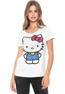 Blusa Cativa Hello Kitty Aplicações Branca