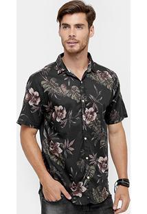 Camisa Foxton Floral Masculina - Masculino
