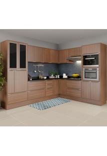 Cozinha Completa 19 Portas 4 Gavetas 5461Rmf Nogueira/Malt - Multimóveis