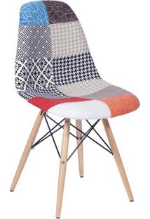 Cadeira Eames Dkr Patchwork- Laranja & Azul- 80,5X46Or Design
