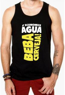Camiseta Regata Criativa Urbana Frases Engraçadas Cerveja - Masculino