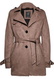 Trench Coat Khelf Botões Khaki