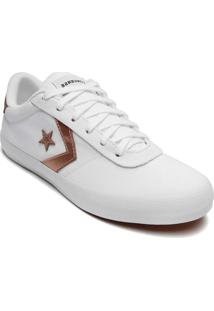 Tênis Converse All Star Chuck Taylor Point Star Ox Branco Ouro Escuro Co02650002 - Kanui
