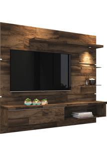 """Painel Para Tv De 55"""" Com 3 Prateleiras De Vidro Ores 1.8-Hb Móveis - Deck"""
