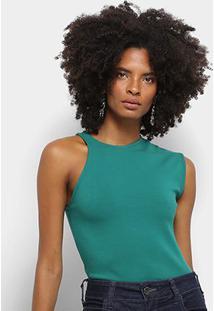 Body Colcci Assimétrico Feminino - Feminino-Verde