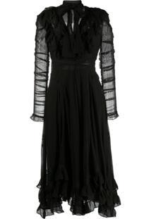 Zimmermann Vestido De Renda Sabotage - Preto