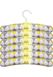 Kit 6Pçs Cabides Laura Baby Cabide Balão Amarelo