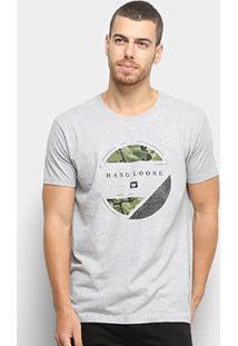 Camiseta Hang Loose Silk Psicamo Masculina - Masculino-Cinza