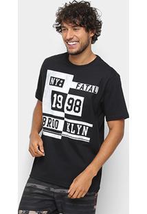 Camiseta Fatal 1998 Brooklyn Masculina - Masculino-Preto