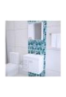 Gabinete Banheiro Bandeirantes Kit Completo Mdp Branco 60Cm