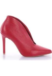 Ankle Boot Esmí Napa Fenice Scarlet - Feminino-Vermelho